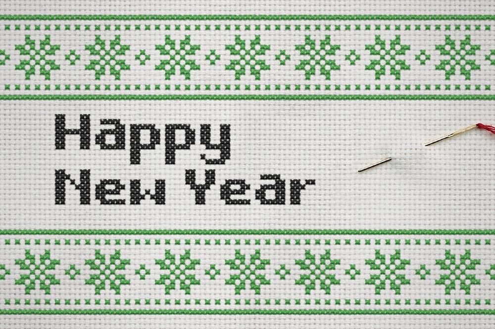 happy new year stitch