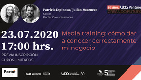 Pactar dará media training exclusivo para startups de UDD Ventures