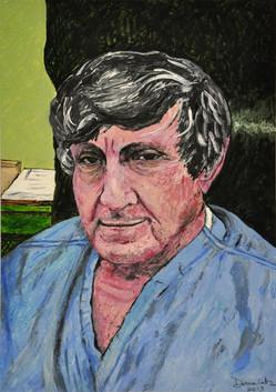 Commitment (Dr. Roman Nowygrod portrait) (2013), Acrylic on paper, 11 3/8x16
