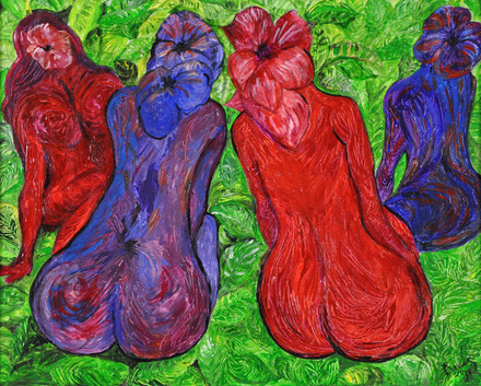 Spring Celebration (2016), Acrylic on canvas, 16x20