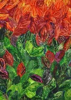 Pieris Japonicum (2013),Acrylic on paper, 17 3/4x11 3/4