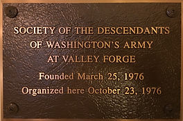 Plaque at Valley Forge