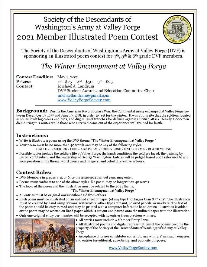 DVF 2021 Member Illustrated Poem Contest