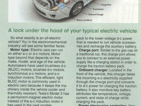 A look under the hood of your typical electric vehicle
