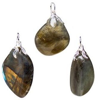 Pendentif pierre gemme Labradorite