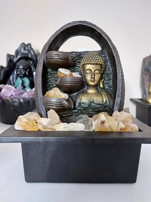 Fontaine Bouddha citrine
