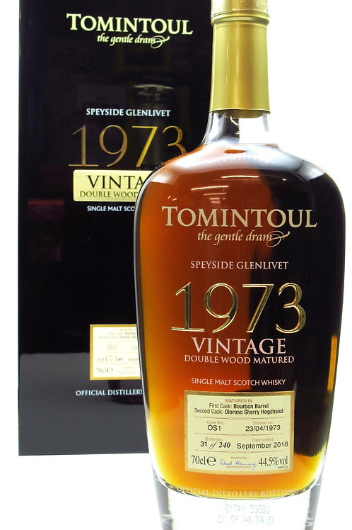 Tomintoul 1973 Vintage Double wood Matured 44,5%