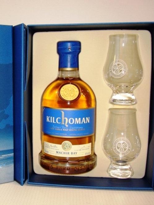 Kilchoman Machir Bay Gift Pack + 2 glazen