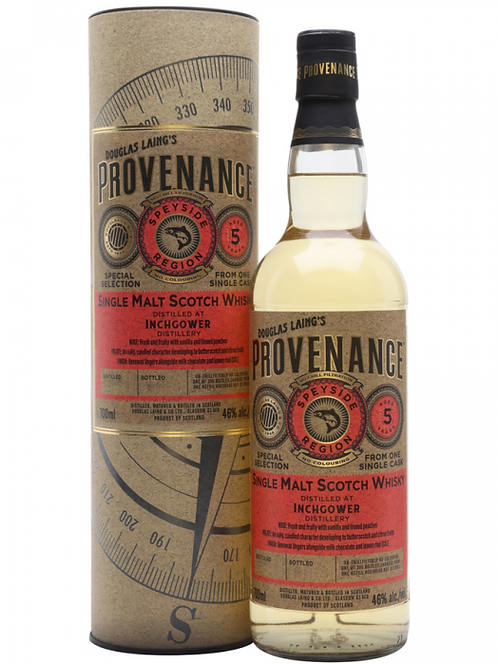 Douglas Laing' s Provenance Inchgower 2013 5y 46%