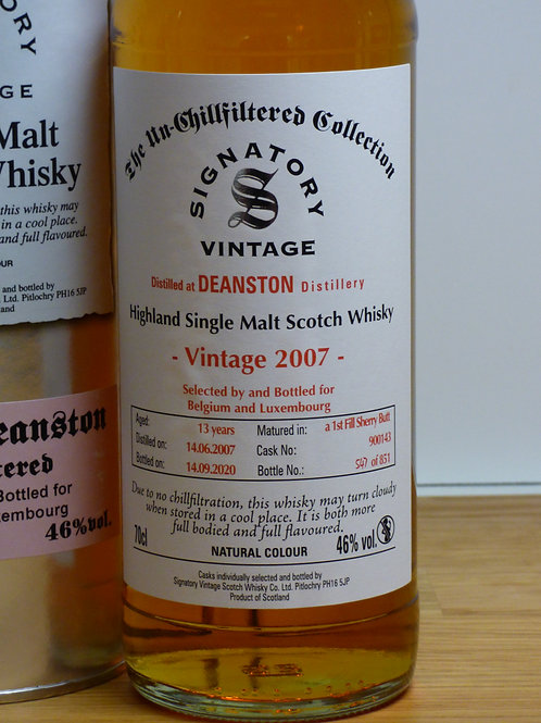 Deanston 13y  46% 1st Fill Sherry Butt