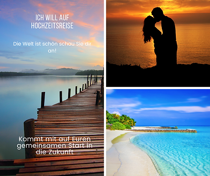 Blau Strand Schlicht Collage Facebook-Po