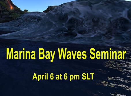 Marina Bay Waves Seminar Tonight @ 6pm SLT