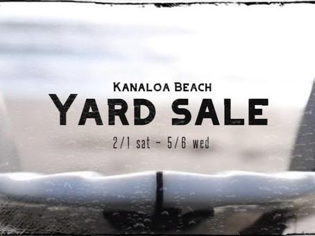 Kanaloa Yard Sale Now Open