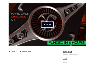 KICKSTARTER COMPLETE! $25,552 WITH 407 BACKERS!