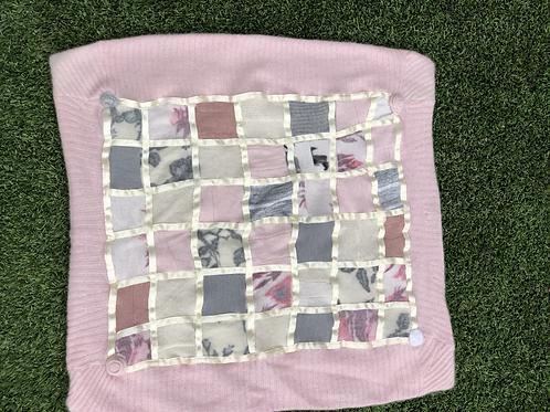 Cashmere Baby Quilt, Satin Ribbon Trim