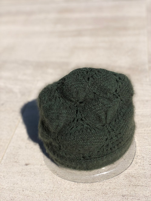 Forrest Green Double Layer Cashmere Beanie