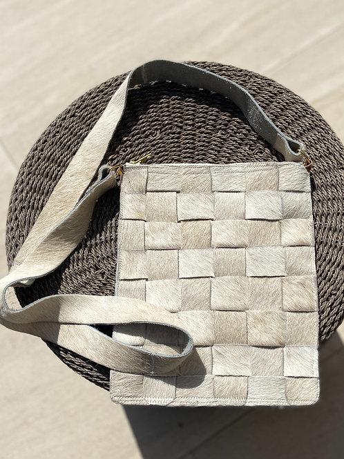 Cowhide Cross-Body Bag in Ivory