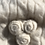 Thumbnail: Cashmere Beanie in Ivory, Cable Weave, Rosette Detail