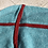 Thumbnail: Cashmere Scarf in Teal w/Coral Detail