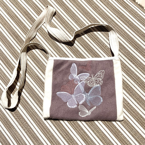 Embroidered Cashmere Cross-Body Bag