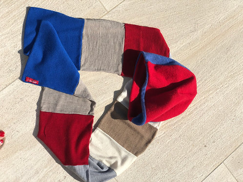 Multi-color Scarf & Beanie Set