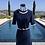 Thumbnail: Navy Blue Cashmere Slip Dress w/Ivory Detail