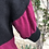 Thumbnail: Long Cashmere Top in Black & Aubergine