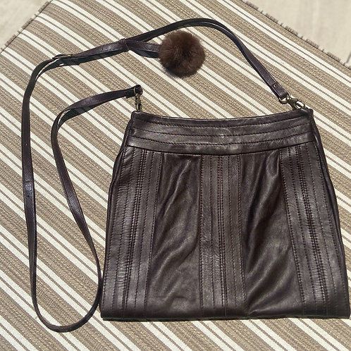 Chocolate Brown Leather Purse