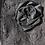 Thumbnail: Black Crepe & Silk Clutch, Silk Rozette, Leather Wrist Handle