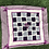 Thumbnail: Cashmere Baby Quilt in Amethyst& Ivory, Purple Ribbon Trim & Rosette Detail