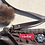 Thumbnail: Chocolate Leather Cross Body Bag, Mink Puff Detail