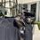 Thumbnail: Black Silk Pleated Dress w/a Golden Motif Ribbon Tie