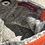 Thumbnail: Silver Ribbon Clutch w/Orange Leather Detail