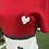 Thumbnail: Tri-Color Cashmere Striped Top, Heart Appliqué & Contrast Detail