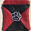 """Thumbnail: Black & Red Leather """"I LOVE MY DOG"""" Pouch Set"""