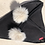 Thumbnail: Triangle Collar/Scarf with White Fur Detail & Pompoms