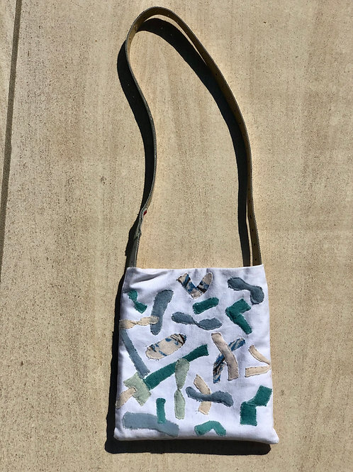 Abstract Appliqué Cross Body Bag
