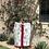 Thumbnail: Cashmere Pale Floral Skirt, Burgundy Detail