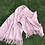 Thumbnail: Cashmere Shawl in Pale Pink, Double Layer, Ivory Ribbon & Swarovski Detail