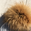 Thumbnail: Dual Tone Grey Beanie w/a Fox Fur PomPom