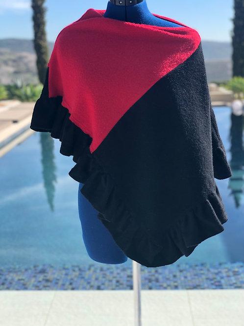 Black and Red / Ruffled Edge