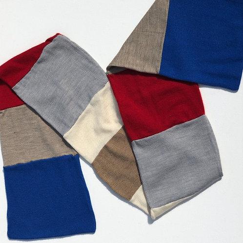 4 Color Block Cashmere Scarf