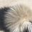 Thumbnail: Heather Grey Cashmere Detail w/Fur PomPom