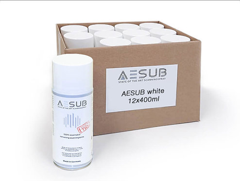 AESUB White Scanning Spray - 8 Cases (96 Cans)