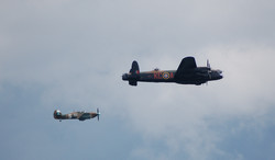 Lancaster Bomber with Wing Man