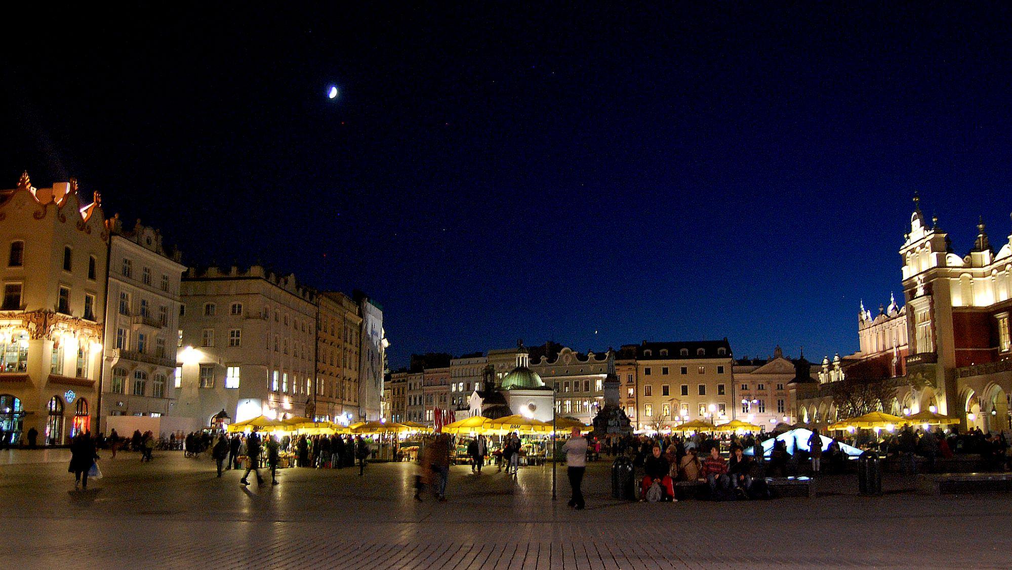 Krackow Main Square Evening Market