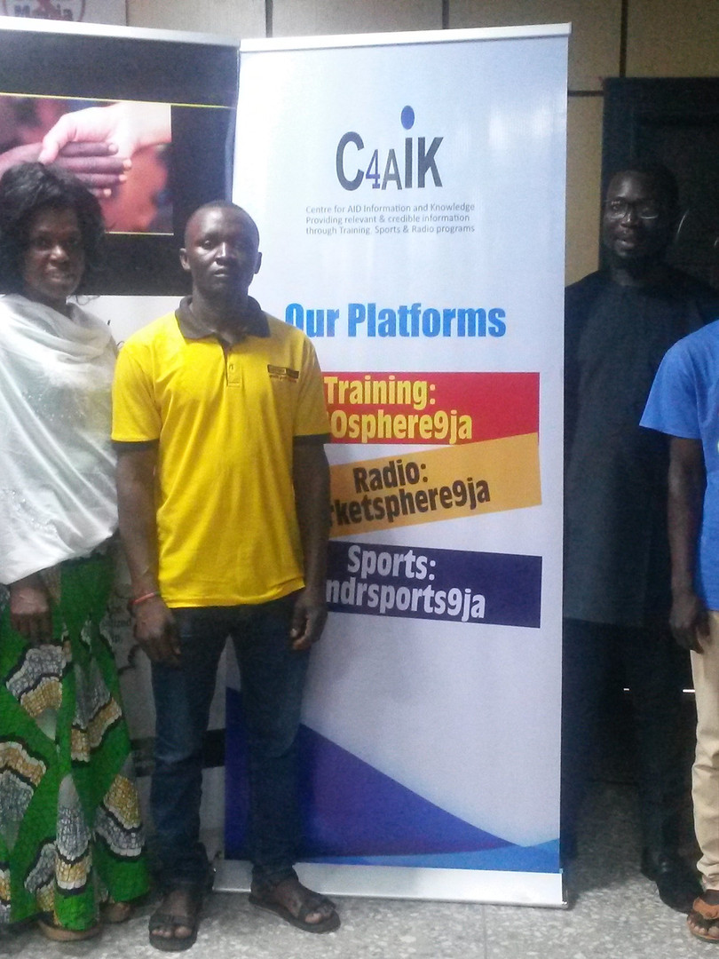 ECWA youths during our free training on 29 August 2019