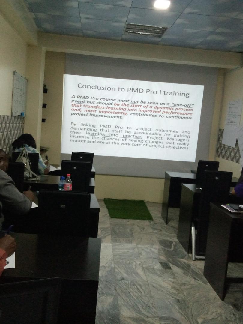 PMD Pro training in progress