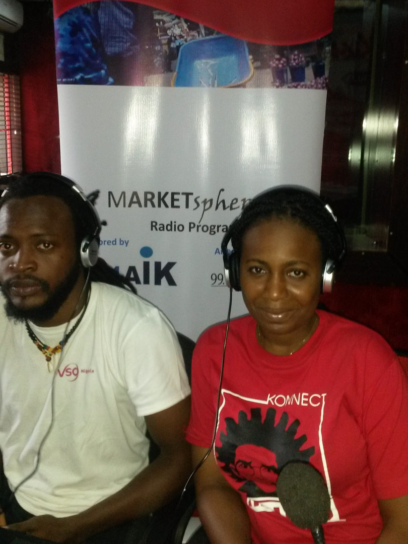 Kenechukwu and Jeniffer of VSO were guests on our radio programme to commemorate world teachers day on 5th October