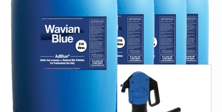 AdBlue Drum Starter Kit (Basic) 4 X 210 Litre AdBlue + Manual Piston Drum Pump